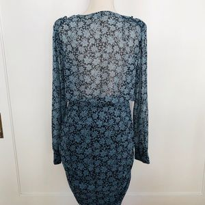 1. State Dresses - New 1. State Wild Blooms Wrap Front Blue/Black DR